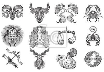 Fototapeta 12 Znaków Zodiaku Tatuaże