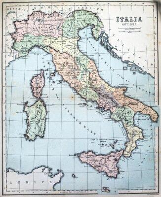 Fototapeta 19th Century mapa Roman Włoch