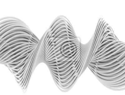 Fototapeta 3d abstrakcyjna białe linie