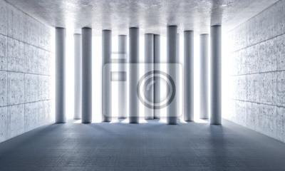3d abstrakcyjne filary