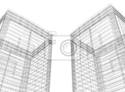 Fototapeta 3D architektury streszczenie
