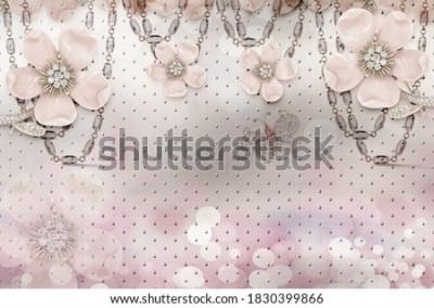 Fototapeta 3d flower wallpaper 3d background- Illustration