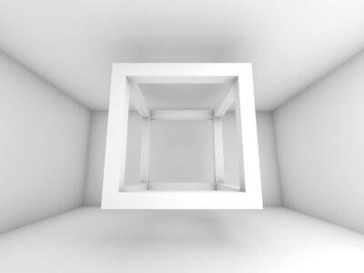 Fototapeta 3d ilustracja tło, kostki latający pusty wiązka