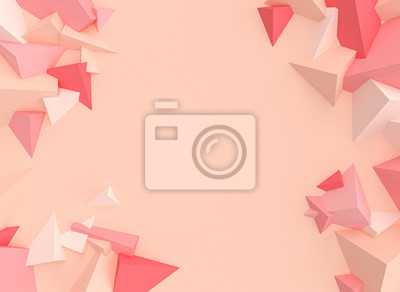 3d render image of a polygonal geometric background of randomly placed elements
