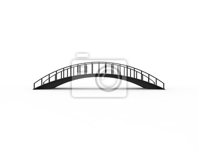 Fototapeta 3D rendering of a bridge isolated on white background