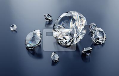 bd0b4a1e50cdcb Fototapeta 3d różne diamenty, kamienie szlachetne, jasne klejnoty szlifowane