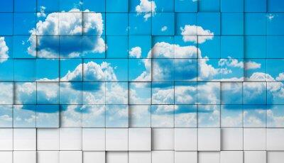 Fototapeta 3d z nieba .