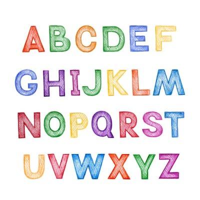 Fototapeta ABC dla dzieci kreskówki