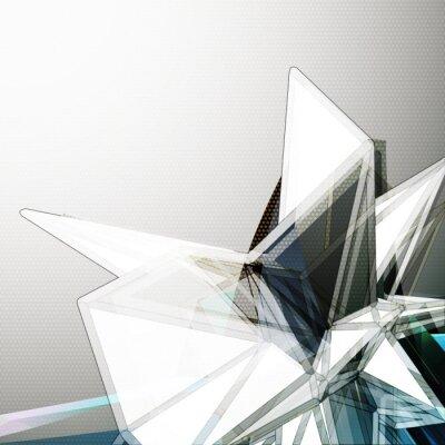 Fototapeta Abstract 3D wektorowe crystal