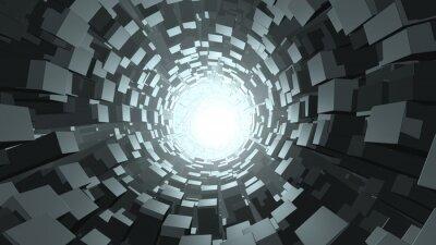 Fototapeta Abstract cube tunel