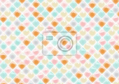 Fototapeta abstract cute mosaic tile vector background