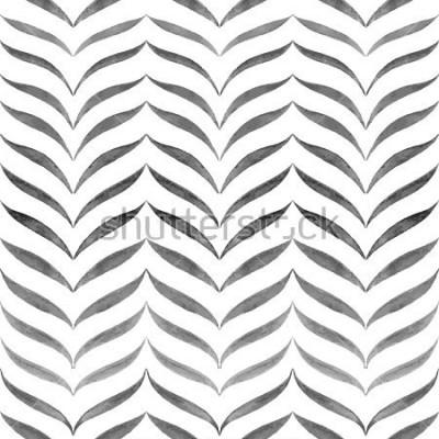 Fototapeta Abstract czarne białe tło. Wzór bez szwu ręka.