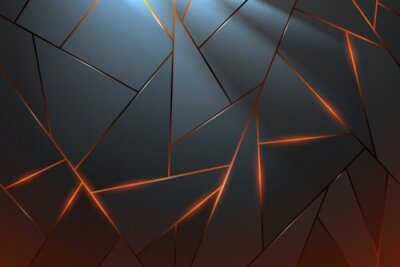 Fototapeta Abstract metal background with light effect
