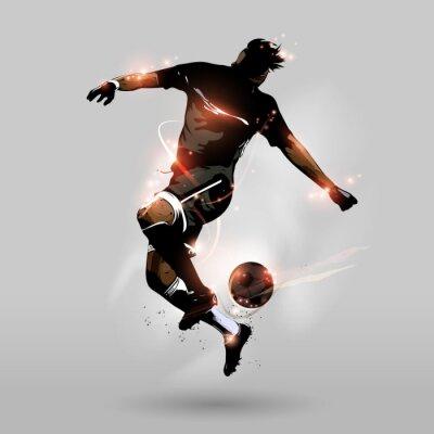 Fototapeta abstract soccer jumping touch ball