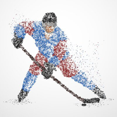 Fototapeta abstrakcja, hokej, lód, Puck