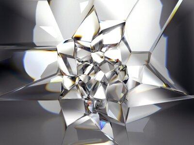 Fototapeta abstrakcyjna jasne tło kryształ