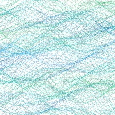 Fototapeta Abstrakcyjna niebieskie tło linie. Wektor