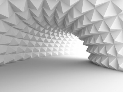 Fototapeta Abstrakcyjne Architektura tunelu z jasnym tle
