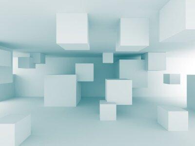 Fototapeta Abstrakcyjne chaotyczne Kostki Budowa wzór tła