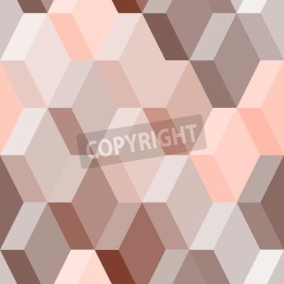 Fototapeta Abstrakcyjne geometryczne szwu w różowym i brązowym, wektor