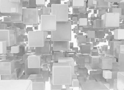 Fototapeta Abstrakcyjne tło z kostek metalowych