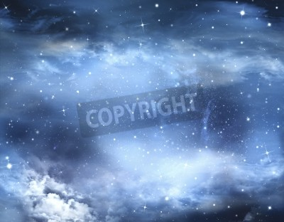 Fototapeta abstrakcyjne zimowe niebo, tło