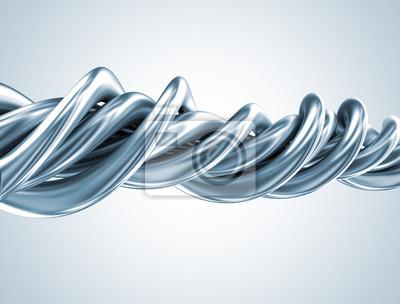 Fototapeta Abstrakcyjny kształt 3D metalu