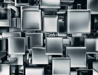 Fototapeta Abstrakcyjny obraz z metalu kostki tle