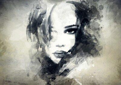 Fototapeta abstrakcyjny portret kobiety