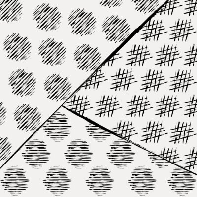 Fototapeta abstrakcyjny wzór tła z kresek i odpryskami, czarny