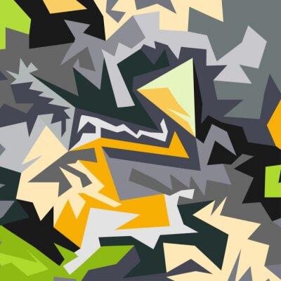 Fototapeta Abstrakcyjny wzór wielokątów wektorowych ilustracji