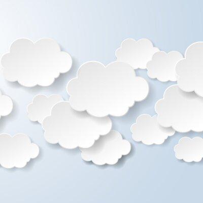 Fototapeta Abstrakt dymki w kształcie chmur stosowany w społecznej