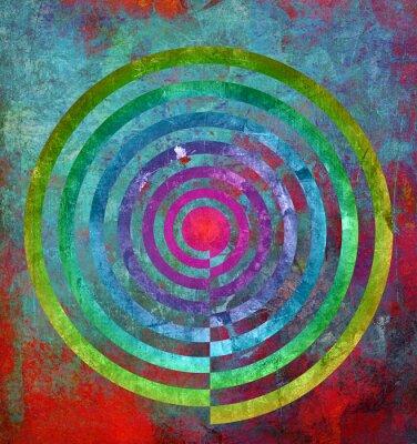 Fototapeta abstrakt textur Zentrum spirale
