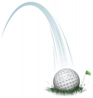Fototapeta Akcja piłki golfowej