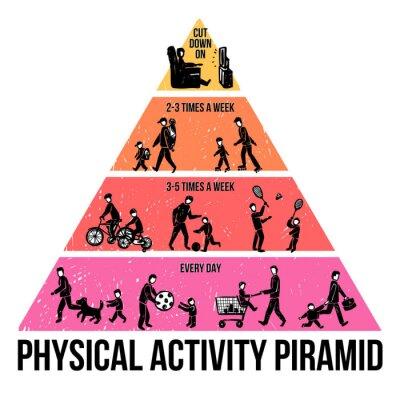 Fototapeta Aktywność fizyczna Infografika