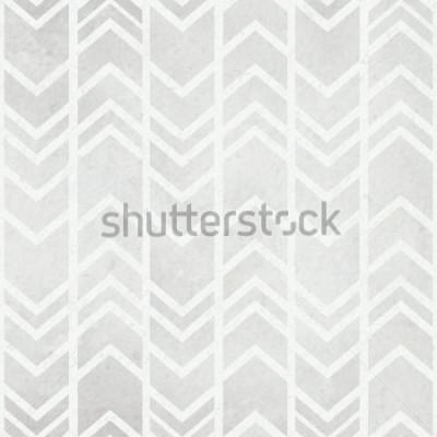 Fototapeta Akwarela papierowy tło z plemiennym ikat akwarelą siwieje wzór