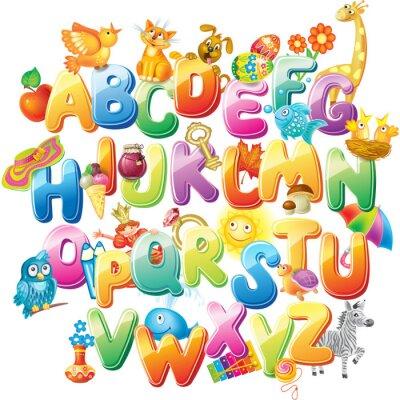 Fototapeta Alfabet dla dzieci z obrazkami