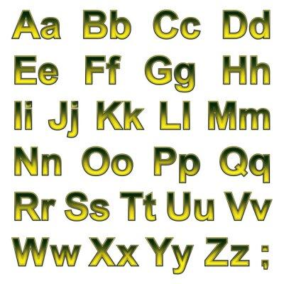 Fototapeta Alfabet pseudo 3d litery