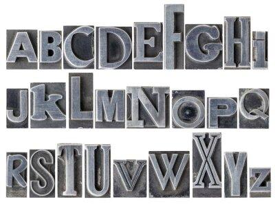Fototapeta Alfabet w mieszanym typie metalu
