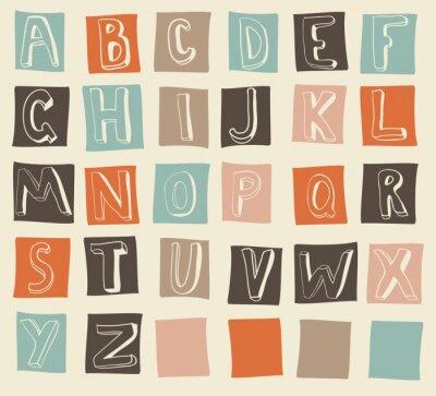Fototapeta alfabetu łacińskiego