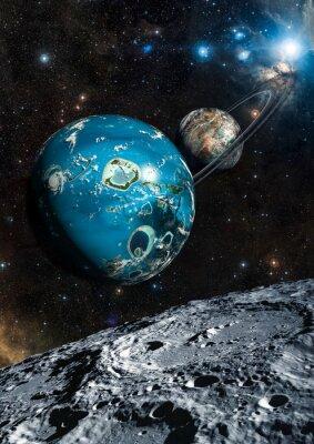 Fototapeta Alien Exo Planet. Elementy tego zdjęcia dostarczone przez NASA