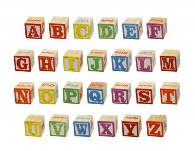 Fototapeta Alphabet Blocks
