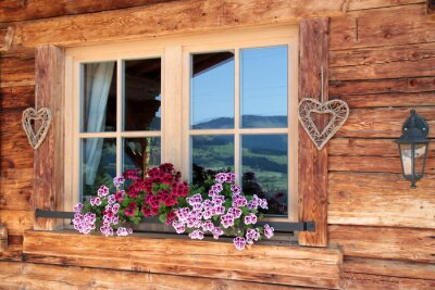 Fototapeta Alpy w oknie