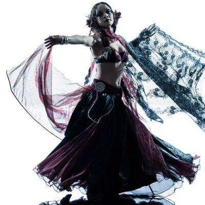 Fototapeta arabski belly dancer dancing woman