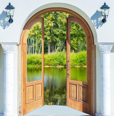 Fototapeta Arch drzwi otwarte staw