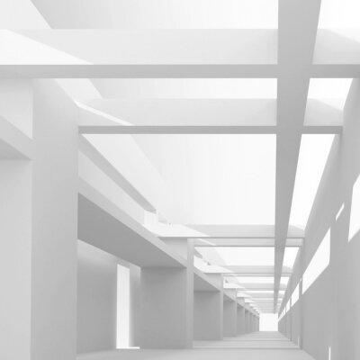 Fototapeta Architektura abstrakcyjna tła 3d z widoku perspektywicznego emp