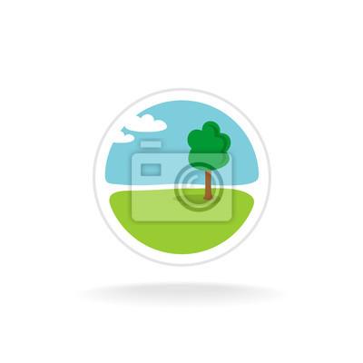 Architektura Krajobrazu Szablon Logo Wektor Fototapeta Fototapety