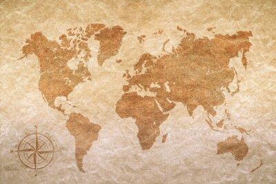 Retro mapa świata