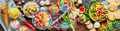 Fototapeta Asortyment kolorowe, świąteczne słodyczy i cukierków