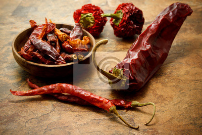 Fototapeta Asortyment papryki chili